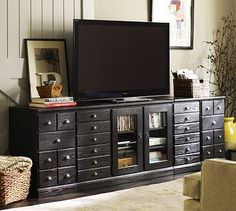 Decorate around TV | Printer's Eclectic Media Suite