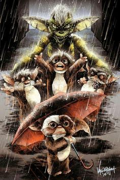 Awesome Gremlins artwork by Vandlerrama Arte Horror, Horror Art, Horror Movies, Les Gremlins, Gremlins Gizmo, Classic Monsters, Movie Poster Art, Iconic Movies, 80s Movies