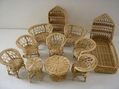 Barbie wicker furniture childhood-memories