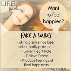 An easy way to fake a smile is put a pen in your mouth horizontally and grip it with your teeth. Viola - instantly feel better!  #instahappy #instatip #instatips #lifehacker #lifehacking #lifehacksbyfifi #lifehack #lifehacks #livewell #instagood #instamood