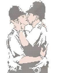 Resultado de imagem para cross stitch banksy