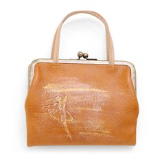 Coquette/バレエ 口金財布 18900yen バレリーナが華麗に舞う、持ち手つき財布