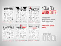 The BEST visual workouts and even has some great nutrition advice
