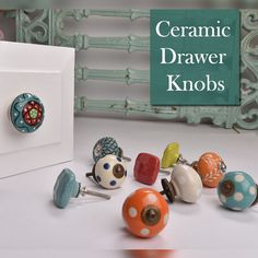Online ceramic drawer knob made by highly skilled craftsmen for more collection visit our website. Indian Crafts, Indian Home Decor, Knobs And Handles, Drawer Knobs, Ceramic Door Knobs, Kitchen Hardware, Decorative Items, Decorating Your Home, Handmade Items