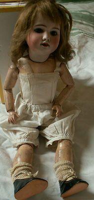 poupee ancienne vintage | Poupée articulée ancienne tête porcelaine, marque SFBJ, 47 cm Plus