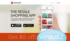 Download the Mercari app and get $2 free use code WPBUEZ