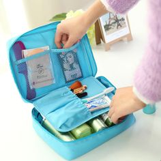 High Quality Make Up Organizer Bags 2016 Brand Women Portable Multifunctional Travel Pockets Cosmetic Bag Travel Makeups Handbag
