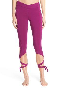 Hitting the dance studio in these capri leggings by Free People.