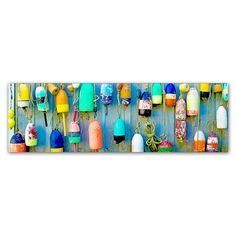 Trademark Fine Art Floaters Large Canvas Wall Art, Turquoise/Blue (Turq/Aqua)