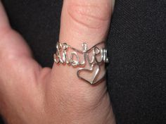 This would be so cute for our chapter.   Wire Wrapped SISTERS Spelled Adjustable Ring With by 1ofAkinds, $6.00
