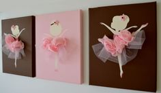 Dancing Ballerinas Wall Art. Set of three dancing ballerinas. on Etsy, $42.00