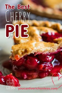 The only cherry pie recipe you will ever need! And you love this recipe with so many wonderful comments and pics of your delicious cherry pies! This pie is a 'no fail' recipe and just bursting with goodness. Cherry Recipes, Pie Recipes, Gourmet Recipes, Baking Recipes, Recipe For Cherry Pie, Recipes With Cherries, Summer Dessert Recipes, Easy Desserts, Holiday Recipes