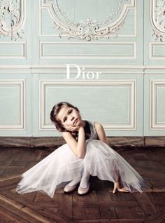 Dior -- If I ever have a daughter I hope she's a little ballerina like this.