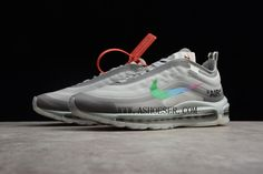 Products Descriptions:  2018 Off-White x Nike Air Max 97 White Green Mens and Womens Size AJ4585-012  Tags: Nike Air Max 97, Off-White Shoes, Off-White, Off-White Air Max Model: OFFWHITE-AJ4585-012 5 Units in Stock Manufactured by: OFF-WHITE White Shoes Men, Off White Shoes, Air Max 97, Nike Air Max, Tags, Retro, Sneakers, Green, Model