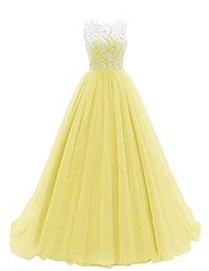 WHENOW Women's Sleeveless Lace Long Prom Dresses Party Ball Gowns Please make sure you purchase from WHENNOW, the other sellers' product will be different from picture Please refer to o… Tulle Prom Dress, Prom Party Dresses, Dance Dresses, Ball Dresses, Bridesmaid Dress, Ball Gowns, Wedding Dress, Elegant Dresses, Pretty Dresses