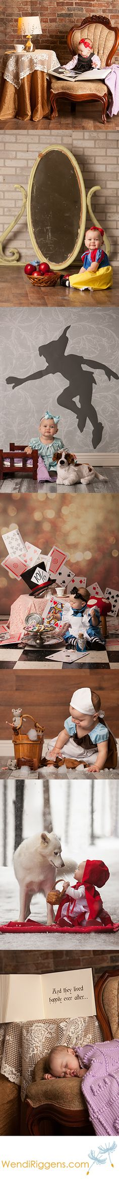 Once Upon A Time – Fairytale Baby Session – Snow White, Cinderella, Alice in Wonderland, Peter Pan & Wendy, Little Red Riding Hood & The Big Bad Wolf - Absolutely precious!