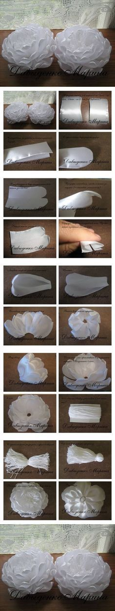 "WOW!!!....a great tutorial! flowers made by melting ""satin"" ribbon thus giving them a very different effect! gonna try this one!...."