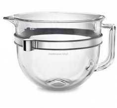 KitchenAid 6 QT Bowl-Lift Glass Steel Bowl w/Comfort Handle For Professional 600 & 6500 Mixers - Major Kitchen Appliances, Kitchen Aid Mixer, Kitchenaid Stand Mixer Attachments, Lift Design, Stainless Steel Bowl, Metal Bowl, Bowl Designs, Venetian Mirrors