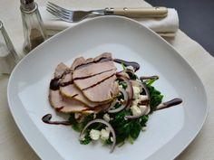 sertéskaraj spenóttal és fetával #porkchops #spinach