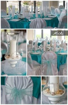 & Teal Chair sashes | Wedding | Pinterest | Chair sashes and Wedding