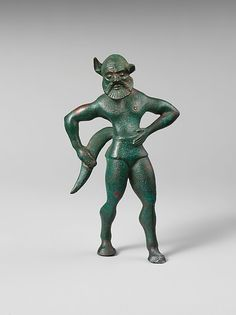 Bronze statuette of a satyr - 6th century B.C. - Etruscan