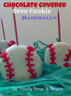 This is such a fun Patriotic dessert. Perfect for baseball games, summer picnics, Father's Day, and Fourth of July! Baseball Desserts, Baseball Treats, Baseball Games, Baseball Mom, Baseball Cookies, Baseball Birthday Party, Birthday Party Games, 70th Birthday, Birthday Ideas
