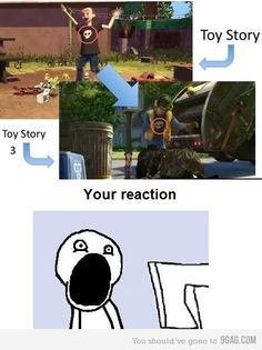 When I first watched Toy Story 3 I saw this and my mind was blown.