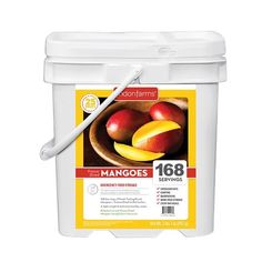 Lindon Farms 168 Servings Freeze Dried Mangoes Snack Meal Earthquake Evacuation Disaster Preparedness Longterm Food Storage Bucket * Click image for more details.