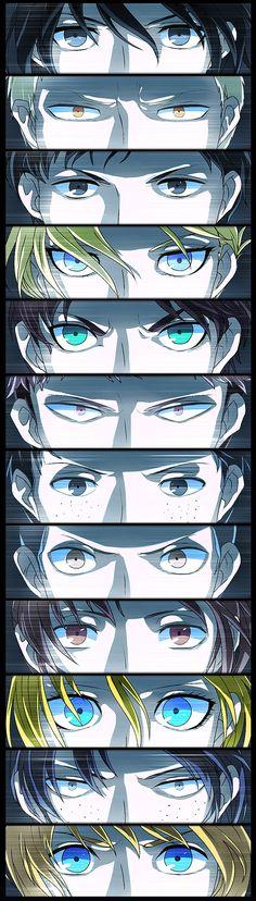 Attack On Titan // Mikasa • Reiner • Bertholdt • Annie • Eren • Jean • Marco • Connie • Sasha • Histaria • Ymir • Armin