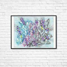 Urban art, Abstract, Geometric, Modern Print, Transformers, Wall art, Contemporary art, Room decor, Gift for him, Blue, Purple, Line art Modern Prints, Fine Art Prints, Urban Art, Transformers, Line Art, Purple, Blue, Contemporary Art, Abstract Art