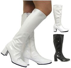 #Ladies #womens fancy dress chunky 60s 70s knee high go go retro #boots size 3-8 ,  View more on the LINK: 	http://www.zeppy.io/product/gb/2/301629122876/