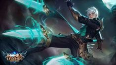 View an image titled 'Gusion Art' in our Mobile Legends: Bang Bang art gallery featuring official character designs, concept art, and promo pictures. Wallpaper Rock, Mobile Legend Wallpaper, Hero Wallpaper, Wallpaper Maker, Wallpaper Keren, Wallpaper Desktop, Black Wallpaper, Nature Wallpaper, Fantasy Male