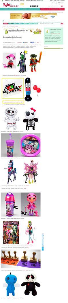 Um produto da Elo7 foi publicado no  Portal Bebê.com, da Abril, em matéria com dicas de brinquedos para o Halloween.