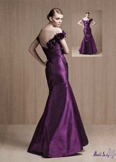 www.balllily.com wedding dress,party dress,on sale now ,newest style,$239Purple off-the-shoulder satin sexy 2012 Love by Enzoani long Prom Dresses EPD070