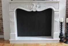 DIY Chalkboard fireplace