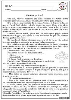 4º E 5º ANO, AVALIAÇÃO, GRAMÁTICA, INTERPRETAÇÃO, LÍNGUA PORTUGUESA, NATAL, PRONOMES, SUJEITO E PREDICADO, VERBO