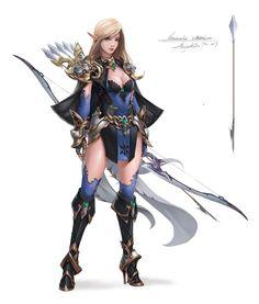 ArtStation - elf archer, ZHANG WENMO