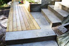 Bilderesultat for terrassegulv betong Terrace, Garden Design, Wood, Diy, Garden Ideas, Gardening, Google, Pictures, Balcony