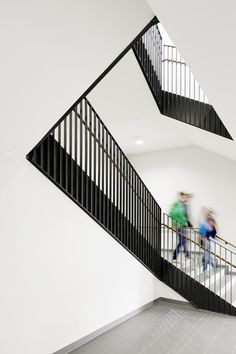 Gallery - Martin Luther School at Rimbach / GMP - 3 Railing Design, Staircase Design, Staircase Railings, Stairways, Residential Architecture, School Architecture, Ecole Bilingue, Stair Detail, Interior Stairs