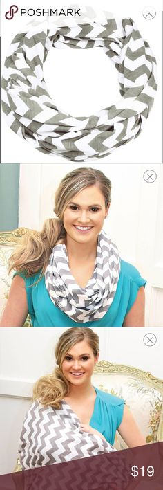 Breastfeeding Scarf - Grey Chevron Itzy Ritzy Nursing Happens™ Infinity Breastfeeding Scarf - Grey Chevron.        Used once Accessories Scarves & Wraps