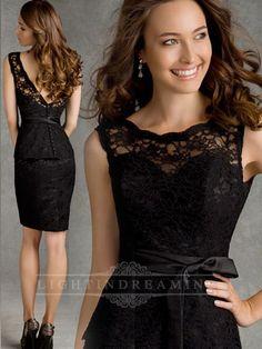 Illusion Bateau Neckline Short Prom Dress 150525tb22