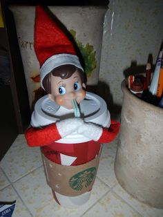 Starbucks Elf treat for vanilla steamer or hot chocolate! The girls will love this!!!