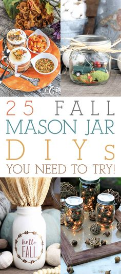 We have over 2 dozen Fall Mason Jar DIYS You Need To Try. From Seasonal Foods to Fabulous Fall Projects! You will truly want to make these Seasonal Crafts!