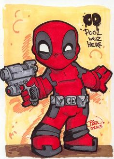 Chibi-Deadpool. by hedbonstudios.deviantart.com on @deviantART