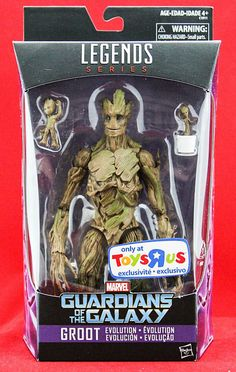 "Marvel Legends Groot Guardians of the Galaxy Vol. 2 Exclusive 6"" Action Figure  #Hasbro"