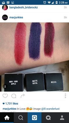 #MAC #lip #swatch