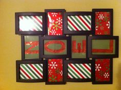 Use wrapping paper to cut out letters to spell out a holiday message