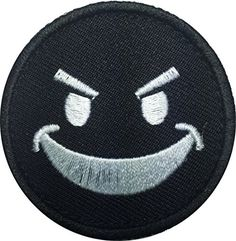Patch Squad Men's Round Evil Smiley Face Embroidered Patc... https://www.amazon.com/dp/B019HNR2Y2/ref=cm_sw_r_pi_dp_VXDzxbW72G5A3