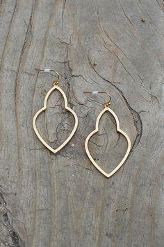 Hollow Pear Earring