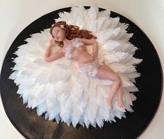 """Amazing Cake Art! ~"""" Feather Bed Bride"""" Cake  ~ all edible"""